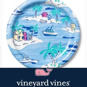 New! Tropical Island Boating Lunch Plates